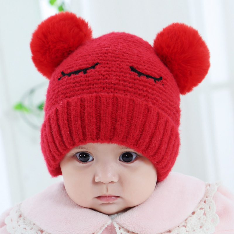 55ef02be8fe Baby hat autumn and winter 3-6-12 months female baby hat thickened 0. Zoom  · lightbox moreview · lightbox moreview · lightbox moreview ...