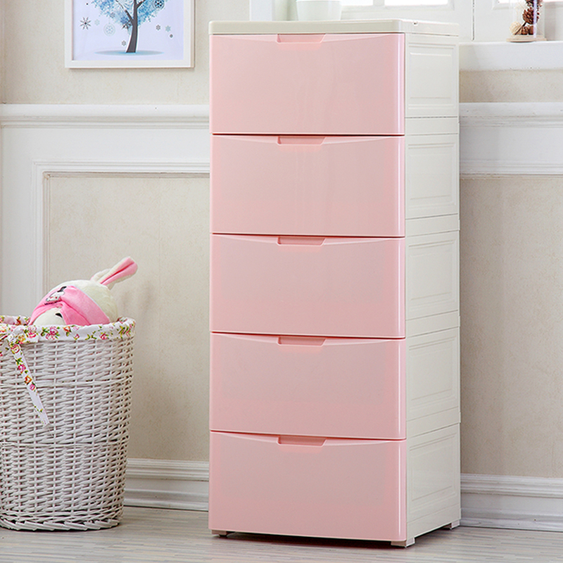 45cm Wide Thickened Plastic Drawer Storage Cabinet Baby Wardrobe Lockers Children S Toys Finishing Chest Of Drawers
