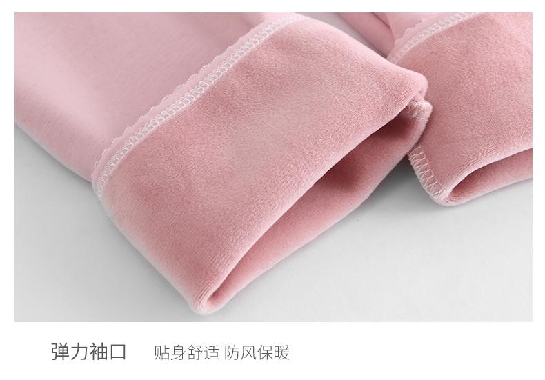 孕妇哺乳上衣秋衣单件冬季款加绒加厚保暖内衣女打底衫月子服哺乳详细照片