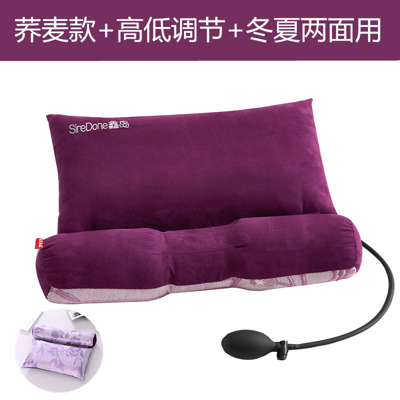 BUCKWHEAT - DARK PURPLE [INFLATABLE PILLOW] ADJUST THE HEIGHT