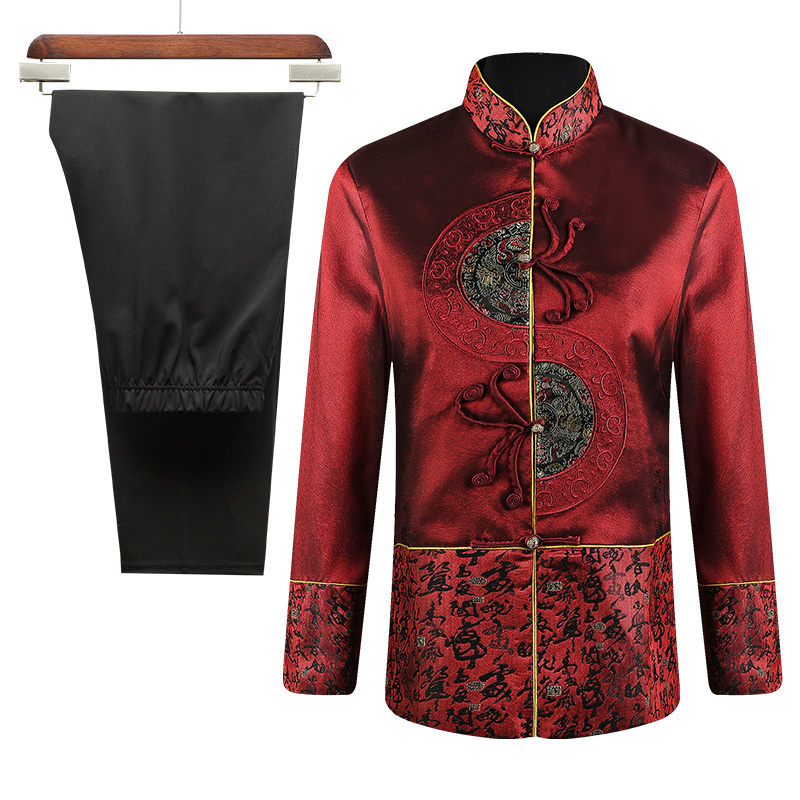 Color Classification Red Shirt Female Single Paragraph Suit Male