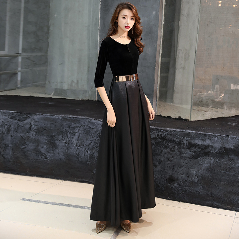 ff29723e0d716 Banquet evening dress 2019 new dignified atmosphere long paragraph noble  and elegant temperament dress small dress skirt female was thin