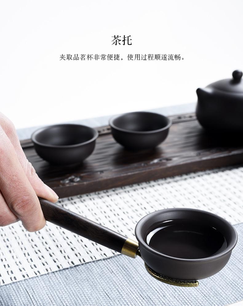 Having your up with azure tea six gentleman 's tea set spare parts ebony ChaGa tea art wenge 6 gentleman