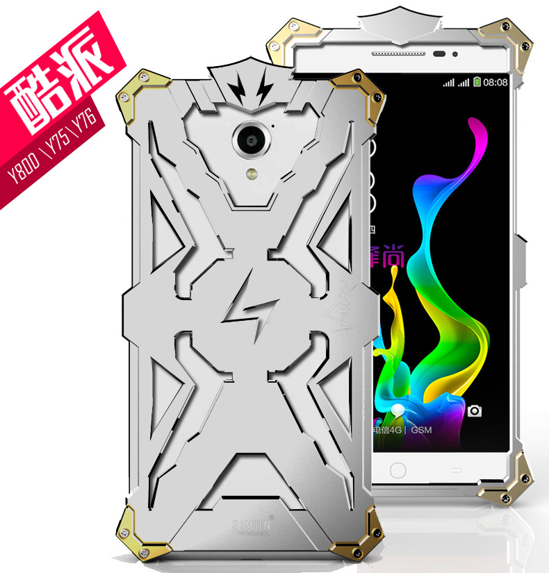 SIMON THOR Aviation Aluminum Alloy Shockproof Armor Metal Case Cover for Coolpad Y75 | Y76 | Y80d