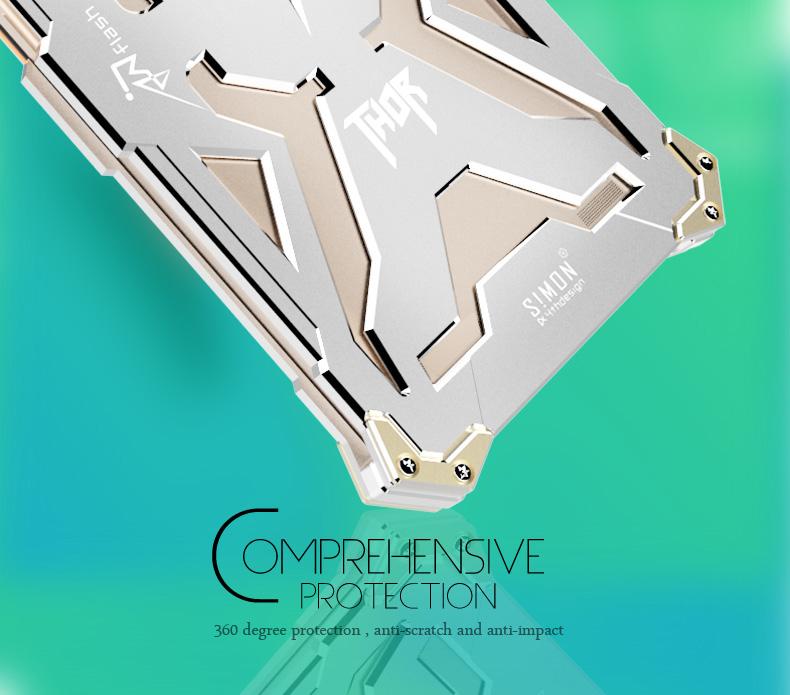 SIMON THOR Aviation Aluminum Alloy Shockproof Armor Metal Case Cover for OPPO R7 Plus & OPPO R7S & OPPO R7