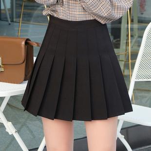 百褶裙高腰显瘦半身裙防走光