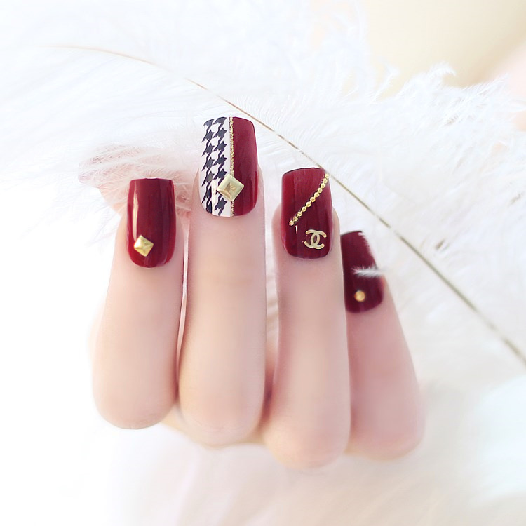New 24PCS Pre-design Party Wedding French Style False Fake Nails ...