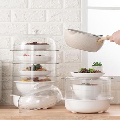 保温菜罩家用折叠神器多层餐桌防尘饭食物罩子菜盖饭菜剩菜剩饭罩