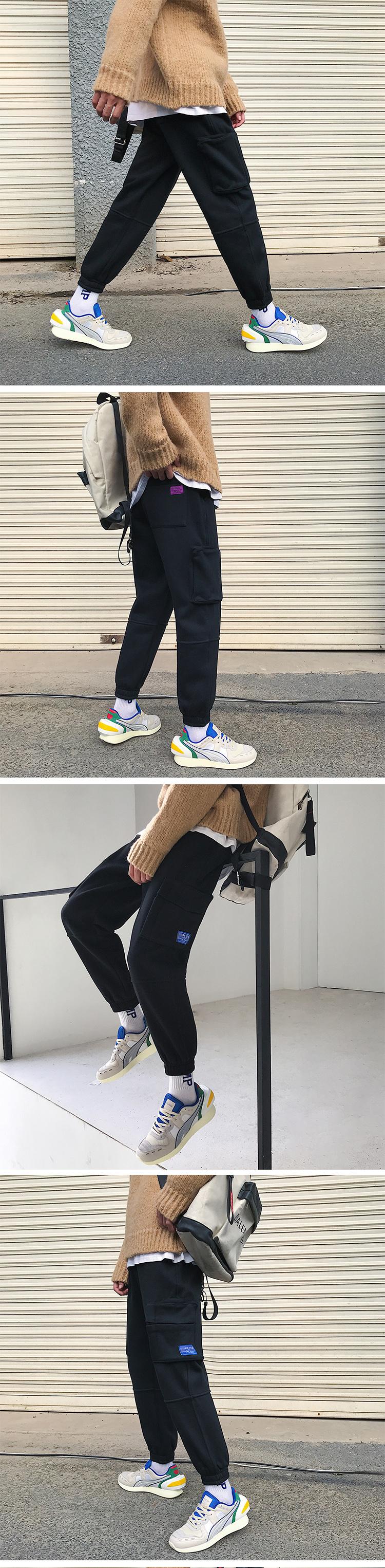 19冬季新款港风大码加绒运动工装休闲裤 A038-K1856-p65