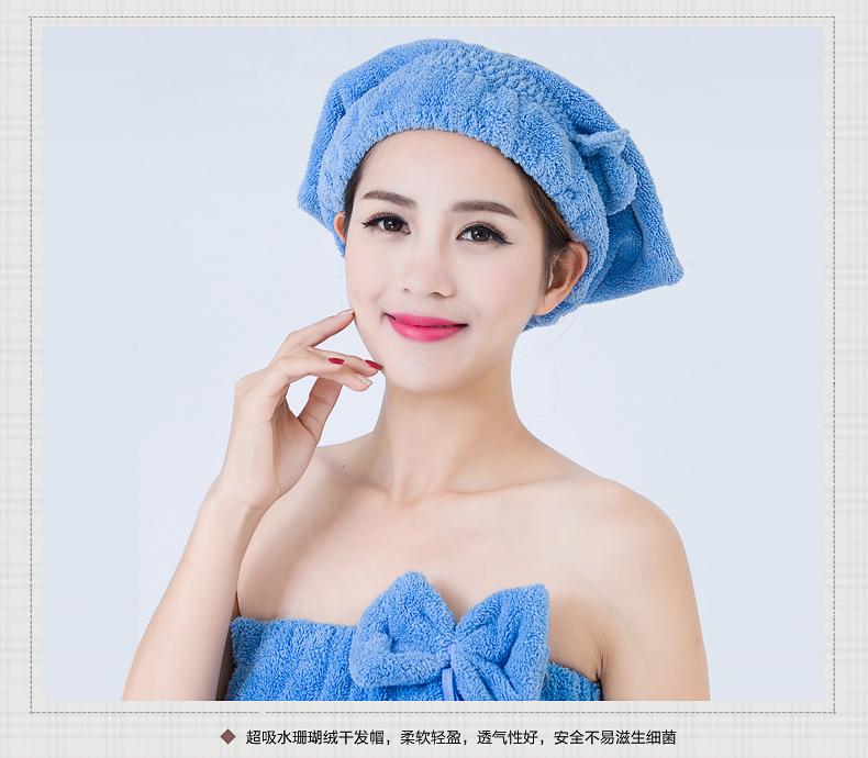 【2条】女款浴帽吸水干发帽长发浴帽干发巾