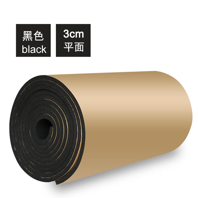 Элегантный черный Плоскость 3 см толстая 【Один квадратный метр】