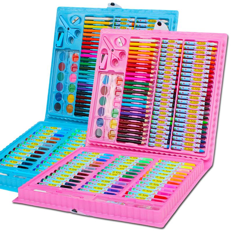 儿童画笔套装美术用品学习文具礼盒画画水彩笔儿童节绘画工具(优惠价10元卖出335件)