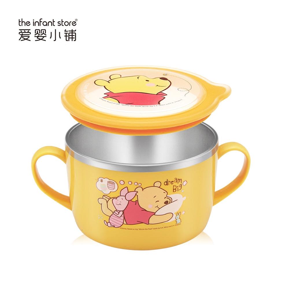 迪士尼儿童餐具不锈钢大汤碗密封保温碗