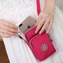 单肩斜挎包手机手腕手臂包牛津布零钱包女包挂脖斜跨迷你小布包包