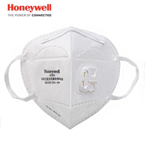 霍尼韦尔 防雾霾防尘带呼吸阀口罩 4只