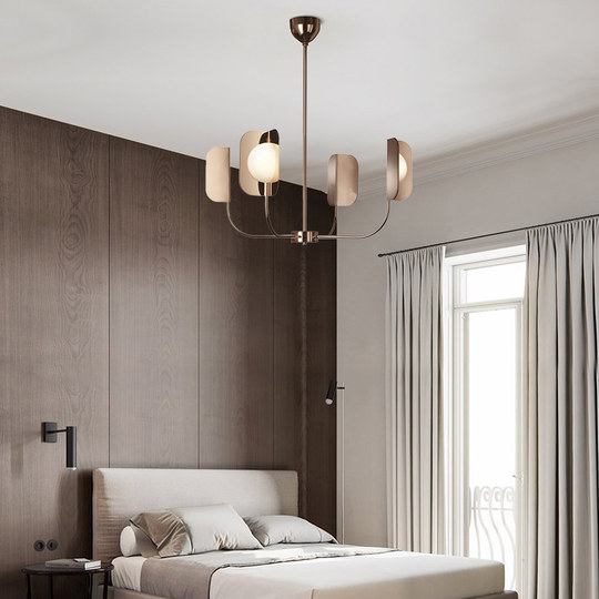 Nordic simple modern creative fashion light luxury designer villa model bedroom living room cafe chandelier