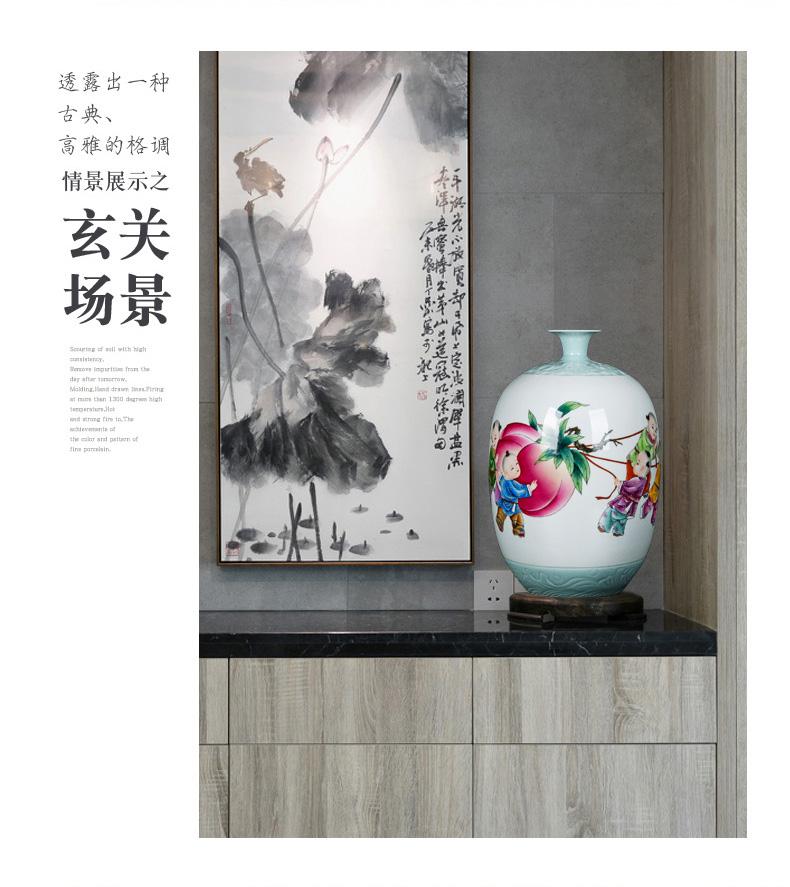 Jingdezhen ceramic vase mesa adornment pastel hand - made vases, restoring ancient ways furnishing articles sitting room TV ark, classical arranging flowers