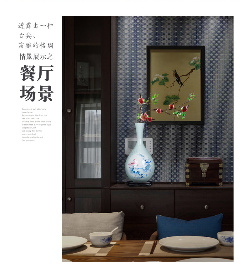 Classic vintage vase jingdezhen made its craft ceramic household decoration is the sitting room TV ark, flower arranging furnishing articles