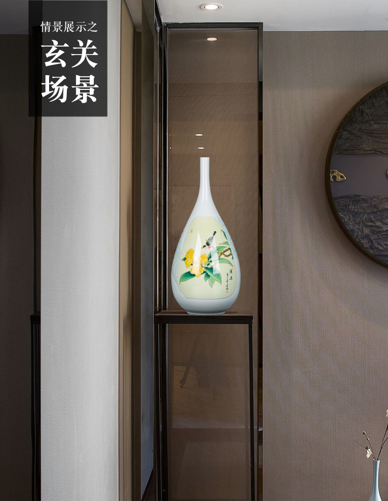 Ceramic bottle vase furnishing articles furnishing articles flower arrangement table sitting room adornment tea rich ancient frame of Chinese style household vase