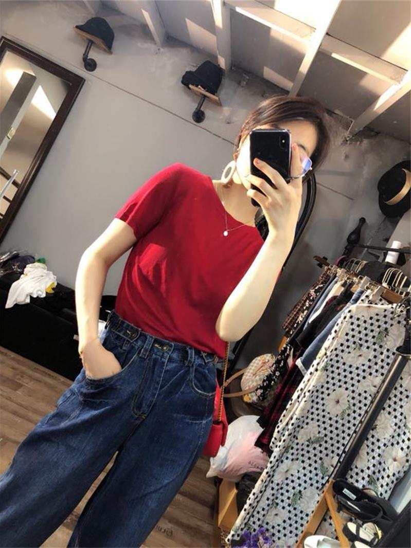 Trạm châu âu hàng Châu Âu đồng bộ thời trang là mỏng Hàn Quốc phiên bản của quần nhiều nút quần đi bộ đường hậu cung quần cũ quần jeans nữ triều