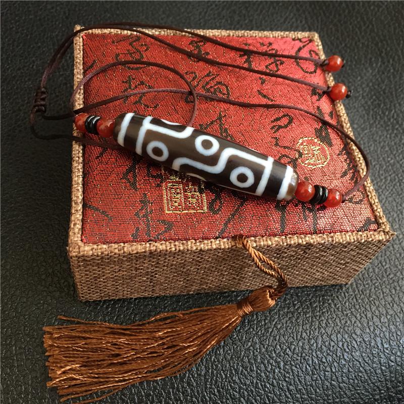 Ювелирные изделия и полуфабрикаты Тибет природных подлинная девять глаза дзи глаз агат кулон зло ожерелье ювелирные изделия ручной строка браслет аксессуары для мужчин и женщин