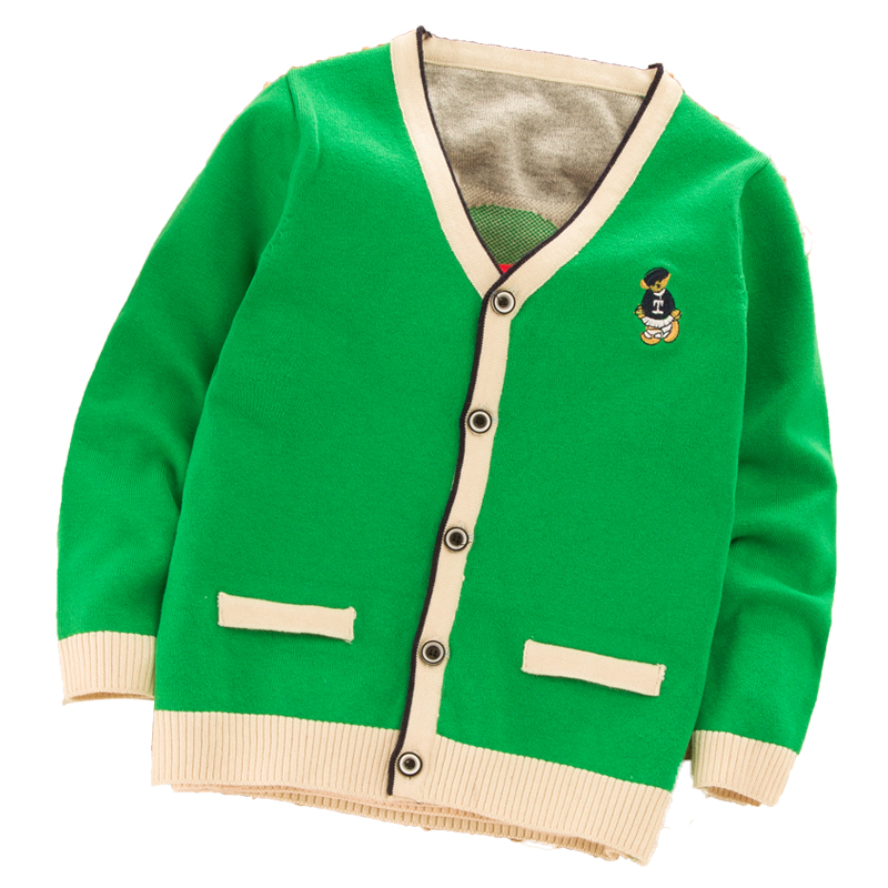0d5e3bc4b6e4 Children s Long Sleeve Sweater 2018 Spring and Autumn Boys Solid ...