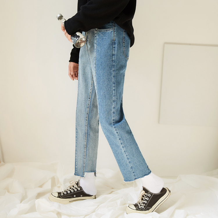 Made Korean version of the jeans men and young summer loose straight nine-cent edge pants. 12