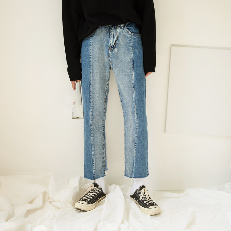 Made Korean version of the jeans men and young summer loose straight nine-cent edge pants. 8