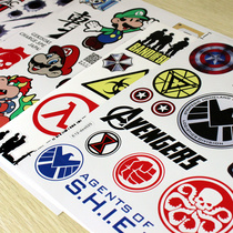 Car stickers motorcycle electric battery car Car scratch personality Tide brand 3D