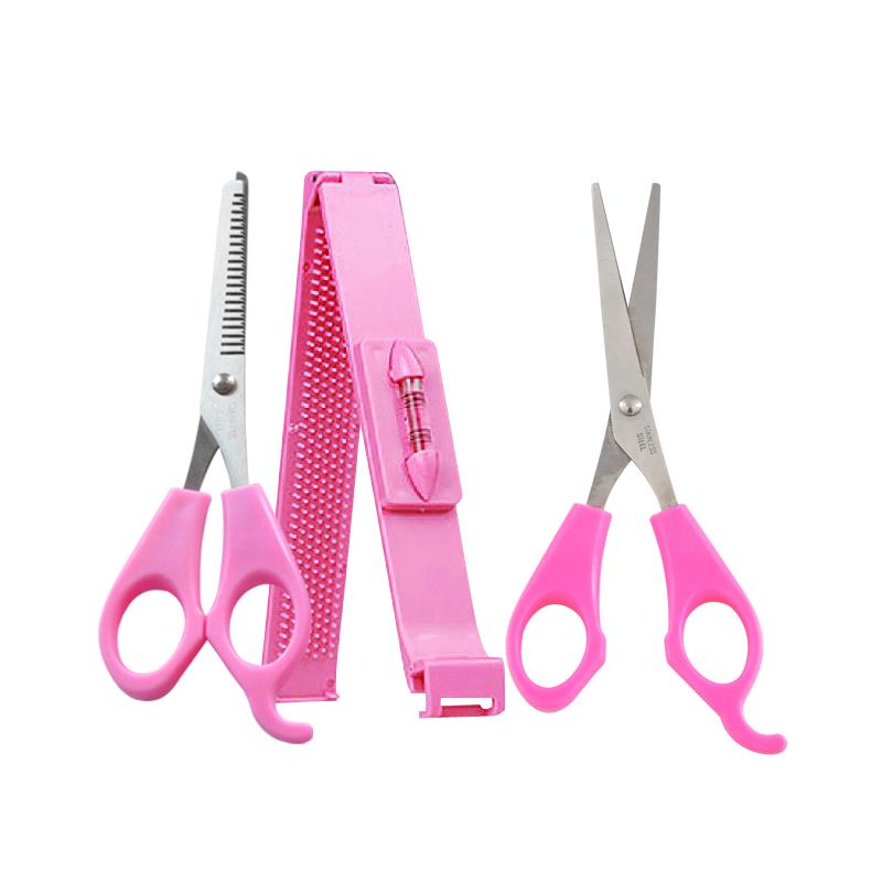 家用DIY剪刘海套装3件套美发工具刘海美发剪美甲剪刀平牙剪刘海夹