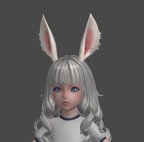 运动服 兔耳妹子3d模型 美术设计参考资源 max源文件素材造型资料