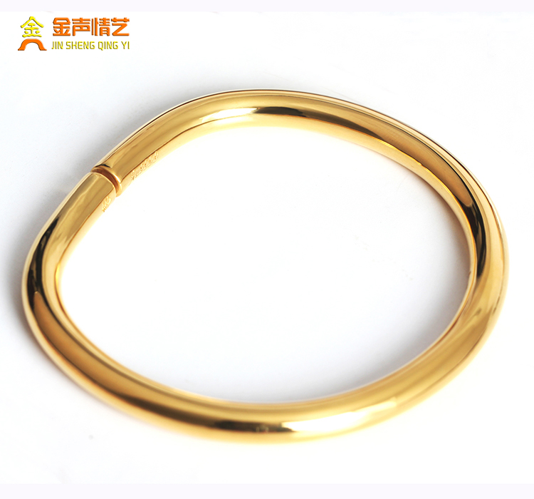 2471c13d28f7b 999 foot gold Horseshoe aperture bracelet female 24K gold solid royal  bracelet open gold bracelet male pure gold children's bracelet