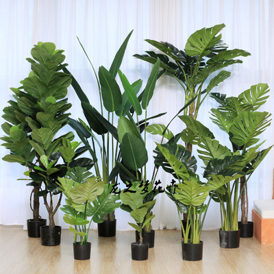 Nordic new simulation banana plantain paradise bird tree turtle venin piano ribbon floor broad-leaved green plant potted plants