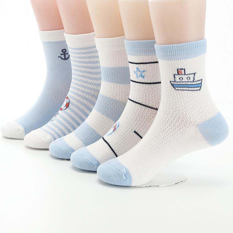 女童男童宝宝儿童袜子夏季春夏薄款纯棉船袜夏天夏袜透气网眼袜