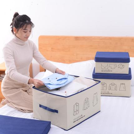 收纳箱有盖衣柜神器可折叠布艺装衣服物整理盒子抽屉式玩具储物箱