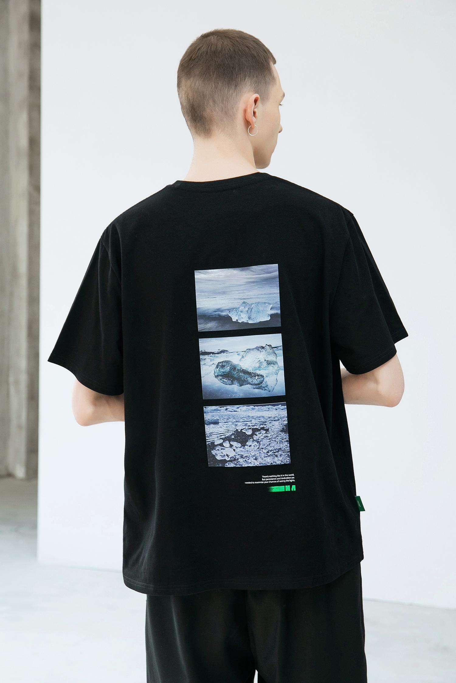GRINCH1928「GAHA」冰岛英文印花纯棉短袖T恤男夏季打底衫半袖TEE(「GAHA」冰岛英文印花纯棉短袖T恤)