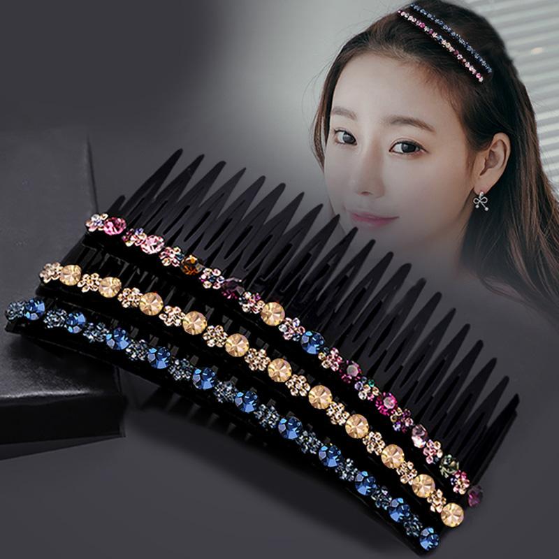 插梳盘发器韩国发饰水钻简约发梳防滑发夹发卡头饰卡子个性发饰女