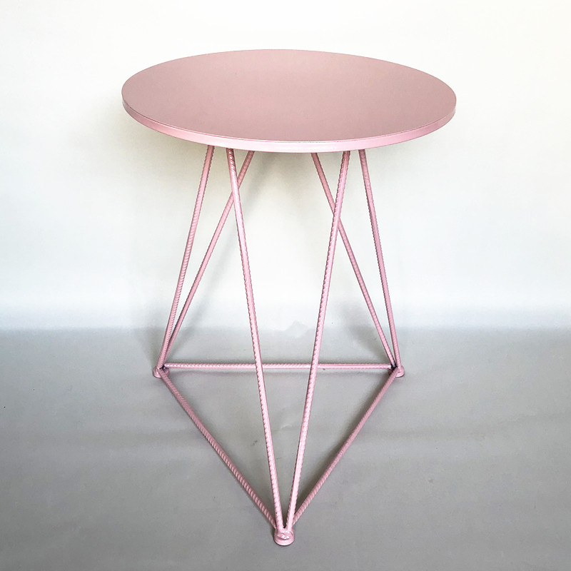 Pink table iron plate