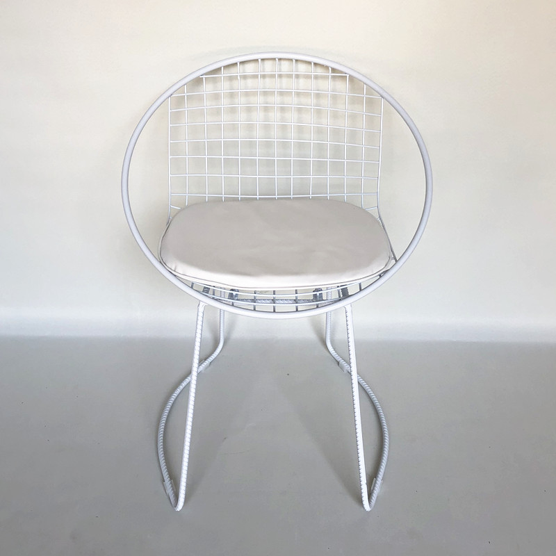 Chair white with cushion