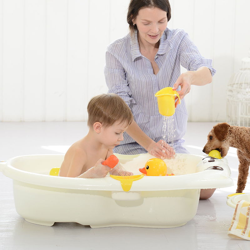 USD 31.89] Baby supplies daquan newborn baby bath tub can sit lying ...