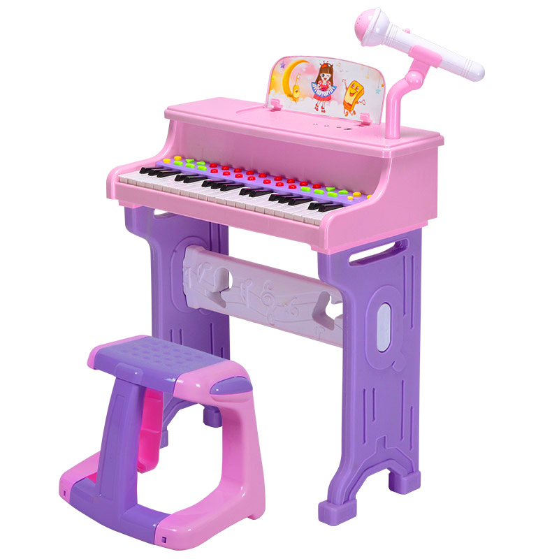 USD 8057 Children Girls Piano Toys Electronic Beginner