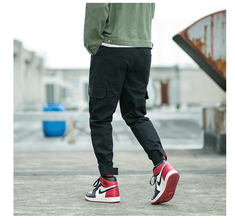 2018爆款加绒工装裤男束脚哈伦裤魔术贴裤子男1211-K1802加绒-P30