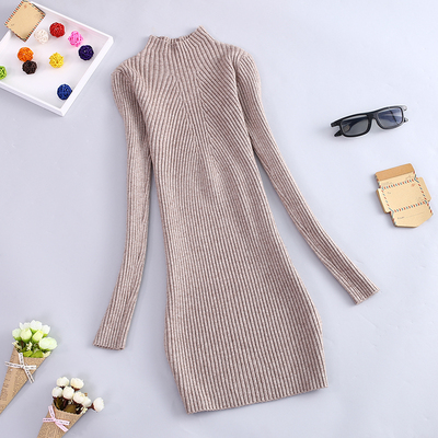 2017 autumn and winter new half-high collar bottoming shirt women long-sleeved Korean version of the long section hedging knit thick sweater