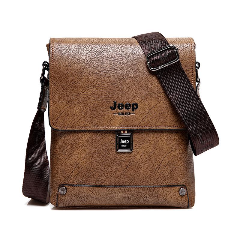 阿南真皮皮包Jeep吉普男包單肩文件包商務休閒皮包氣質男士斜挎包小包簡約時尚