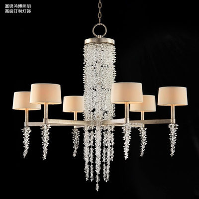 American crystal living room light creative duplex high-rise staircase light luxury romantic branch bedroom dining French chandelier