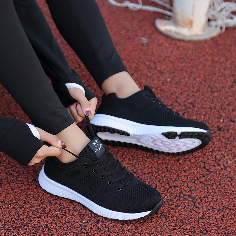 春秋回力运动鞋女鞋跑步鞋网面透气轻便旅游鞋女学生软底休闲鞋女
