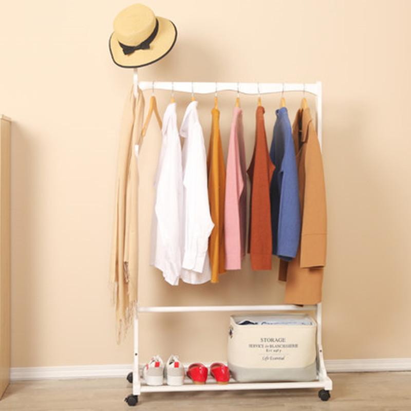 实木卧室落地立式挂衣架可移动简易晾衣架多功能衣服架子衣帽架【优惠价15元卖出123件】