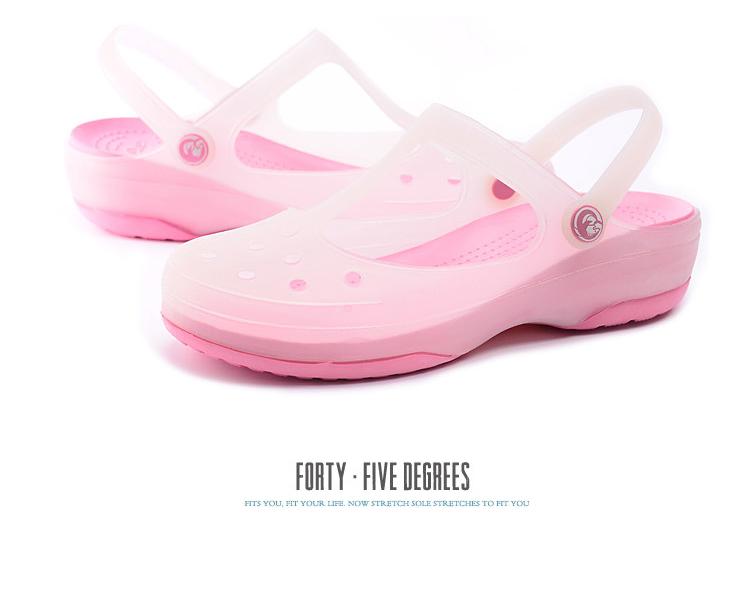 洞洞鞋 夏季女士涼拖果凍女鞋沙灘鞋洞洞鞋花園鞋包頭拖鞋涼拖鞋