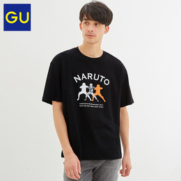 GU excellent men's cotton loose T-shirt short-sleeved NARUTO ninja wind fashion fashion hip-hop 322044