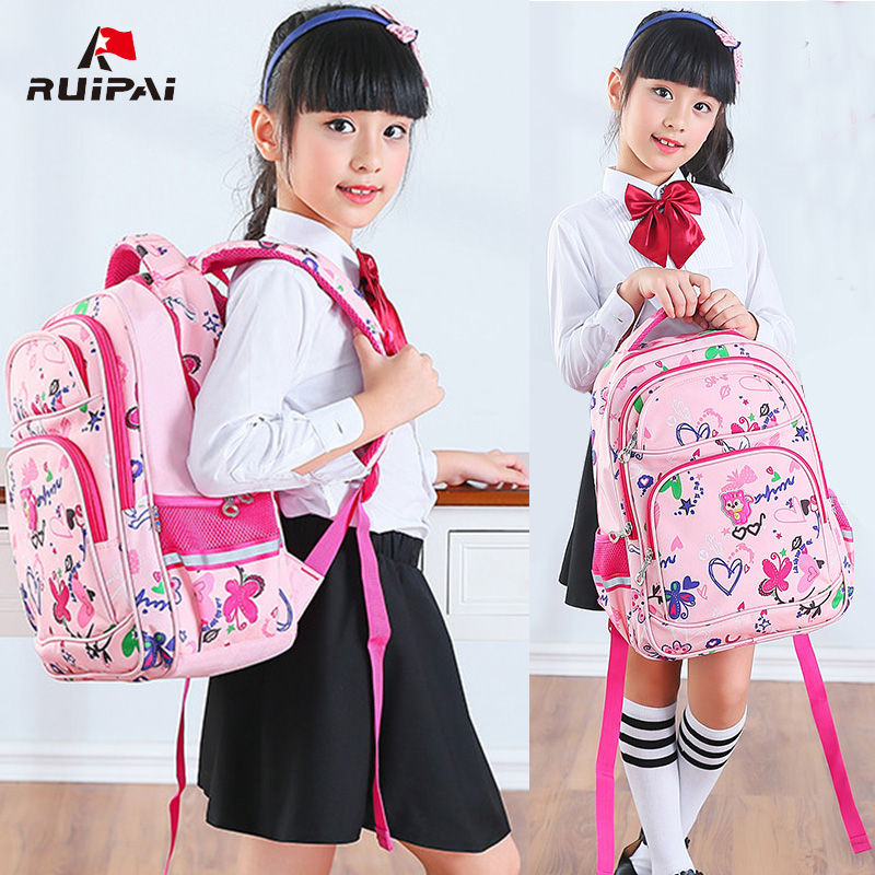 6bc95bbd98 Schoolbag schoolboy girl child schoolbag boy 1-3-4-5-Grade 6 chiropractic lightweight  backpack 6-12 years old